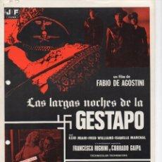Cine: LAS LARGAS NOCHES DE LA GESTAPO. Lote 213448387