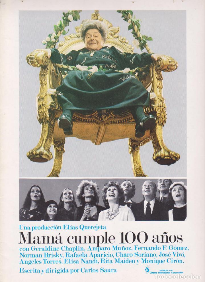 MAMÁ CUMPLE 100 AÑOS. GUÍA DOBLE (Cine - Guías Publicitarias de Películas )