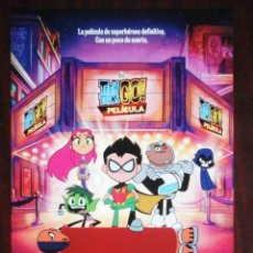 Cine: GUÍA ORIGINAL DE CINE: TEENS TITANS GO. LA PELÍCULA. SIMPLE IMPRESA A DOS CARAS.. Lote 214914188