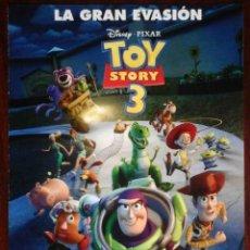 Cine: GUÍA ORIGINAL DE CINE: TOY STORY 3 (DISNEY PIXAR) DOBLE IMPRESA A DOS CARAS.. Lote 214914766