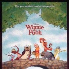 Cine: GUÍA ORIGINAL DE CINE: WINNIE THE POOH (WALT DISNEY 2011) DOBLE IMPRESA A DOS CARAS.. Lote 214915467