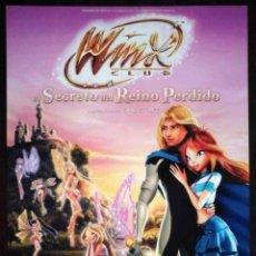 Cine: GUÍA ORIGINAL DE CINE: WINX. EL SECRETO DEL REINO PERDIDO. SIMPLE IMPRESA A DOS CARAS.. Lote 214915622