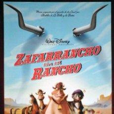Cine: GUÍA ORIGINAL DE CINE: ZAFARRANCHO EN EL RANCHO (WALT DISNEY 2004) DOBLE IMPRESA A DOS CARAS.. Lote 214915970