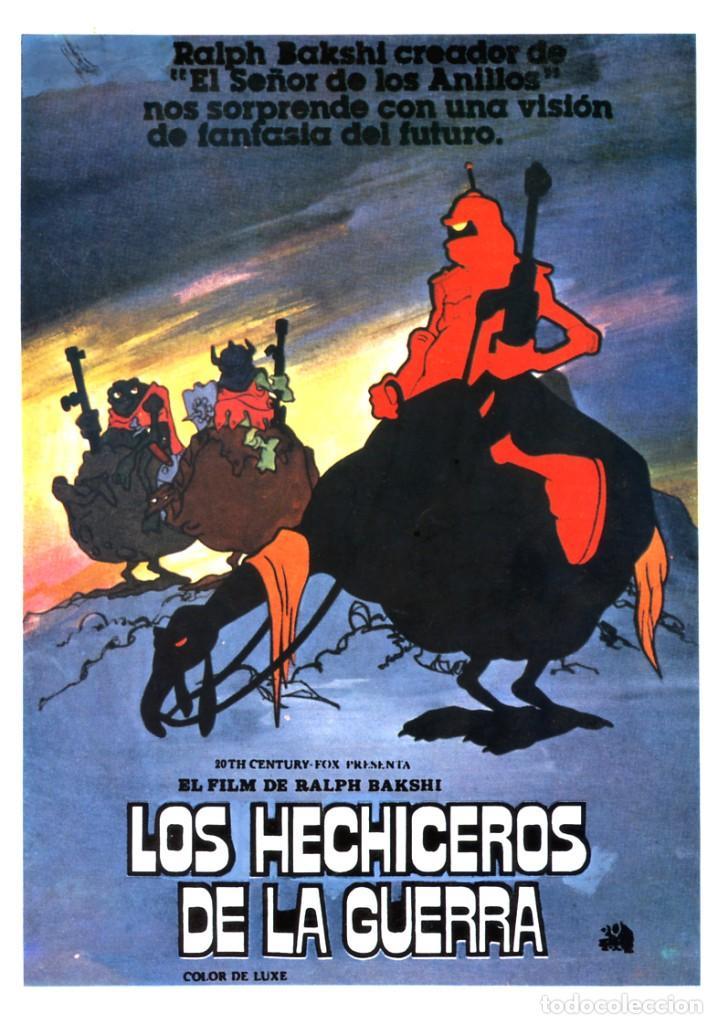 LOS HECHICEROS DE LA GUERRA GUÍA ORIGINAL SIMPLE CON FOTOS DE SU ESTRENO EN ESPAÑA DIBUJOS ANIMADOS (Cine - Guías Publicitarias de Películas )