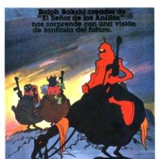 Cine: LOS HECHICEROS DE LA GUERRA GUÍA ORIGINAL SIMPLE CON FOTOS DE SU ESTRENO EN ESPAÑA DIBUJOS ANIMADOS. Lote 215112097