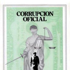 Cine: CORRUPCIÓN OFICIAL GUÍA ORIGINAL SIMPLE DE SU ESTRENO EN ESPAÑA. Lote 215112592