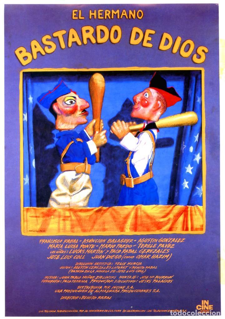 EL HERMANO BASTARDO DE DIOS (GUÍA ORIGINAL DOBLE DE SU ESTRENO EN ESPAÑA) FRANCISCO RABAL (Cine - Guías Publicitarias de Películas )