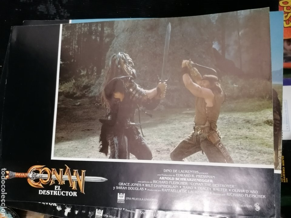 Cine: Conan El Bárbaro Película lote 6 Fotogramas Promocionales Original 1982 - Foto 3 - 215348270