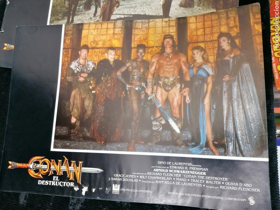 Cine: Conan El Bárbaro Película lote 6 Fotogramas Promocionales Original 1982 - Foto 4 - 215348270