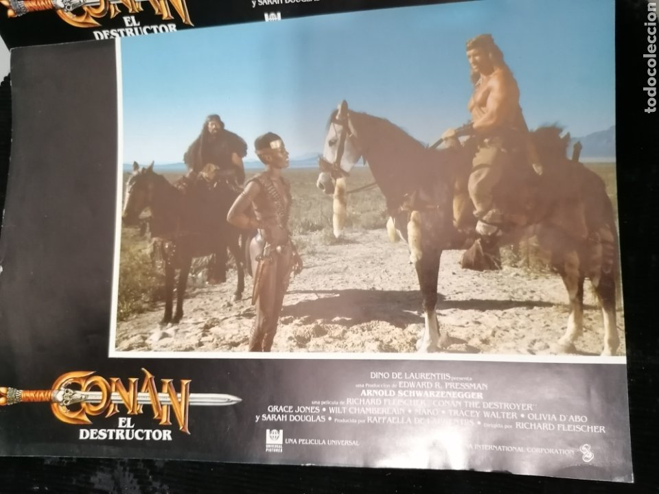 Cine: Conan El Bárbaro Película lote 6 Fotogramas Promocionales Original 1982 - Foto 5 - 215348270