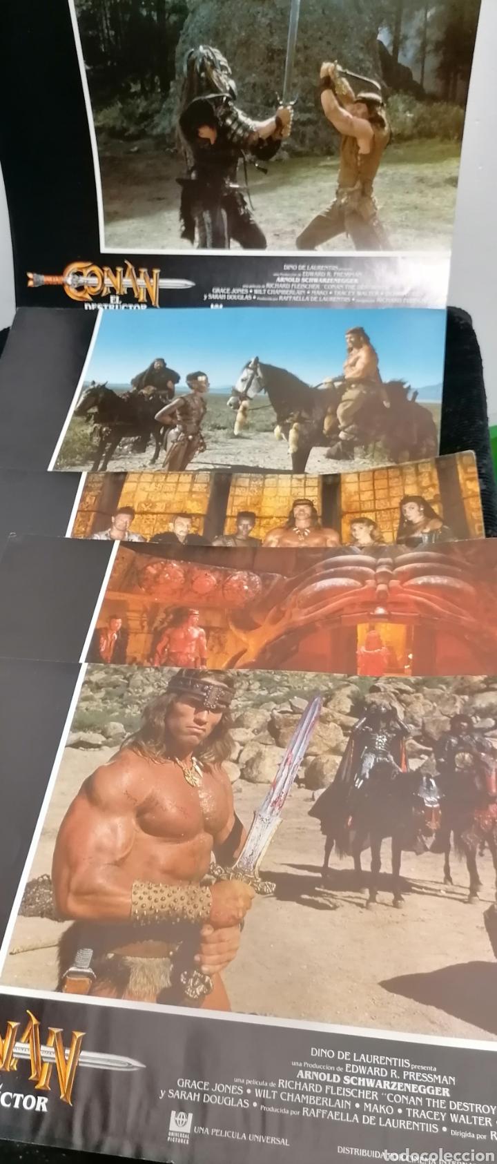 CONAN EL BÁRBARO PELÍCULA LOTE 6 FOTOGRAMAS PROMOCIONALES ORIGINAL 1982 (Cine - Guías Publicitarias de Películas )