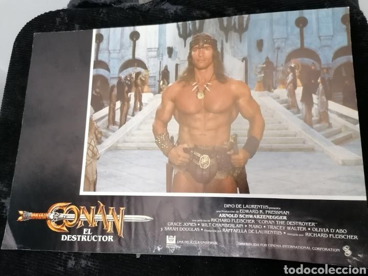 Cine: Conan El Bárbaro Película lote 6 Fotogramas Promocionales Original 1982 - Foto 2 - 215348270
