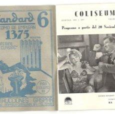 Cine: PROGRAMA COLISEUM - NOVIEMBRE - 1933 - 16 PAGINAS.. Lote 215491010