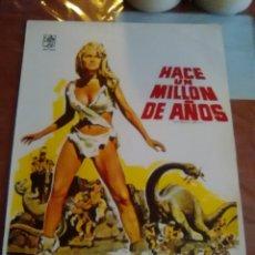 Cinema: HACE UN MILLON DE AÑOS GUIA ORIGINAL DOBLE ESTRENO-HAMMER-RAQUEL WELCH-. Lote 216015701