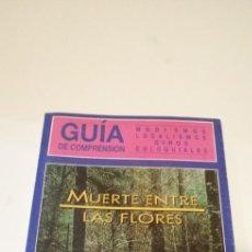 Cine: G-36 LIBRO GUIA DE COMPRENSION MODISMOS LOCALISMOS GIROS COLOQUIALES MUERTE ENTRE LAS FLORES. Lote 217174683