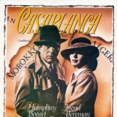 Cinema: CASABLANCA GUÍA ORIGINAL SIMPLE HUMPHREY BOGART INGRID BERGMAN PAUL HENREID. Lote 276720133