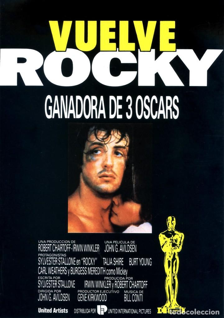 ROCKY GUÍA ORIGINAL DOBLE CON FOTOS DE SU ESTRENO EN ESPAÑA SYLVESTER STALLONE (Cine - Guías Publicitarias de Películas )