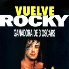 Cine: ROCKY GUÍA ORIGINAL DOBLE CON FOTOS DE SU ESTRENO EN ESPAÑA SYLVESTER STALLONE. Lote 218573952