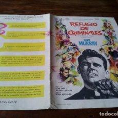 Cine: REFUGIO DE CRIMINALES - DON MURRAY, LARRY GATES - GUIA ORIGINAL CB FILMS AÑO 1961 MAC. Lote 218910366