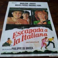 Cine: ESCAPADA A LA ITALIANA - MICHEL PICCOLI, MICHAEL YORK - GUIA ORIGINAL FILMAYER AÑO 1972. Lote 218913235