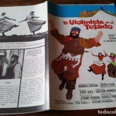 Cine: EL VIOLINISTA EN EL TEJADO - TOPOL, NORMA CRANE, NORMAN JEWISON - GUIA ORIGINAL CB FILMS AÑO 1971. Lote 218914173