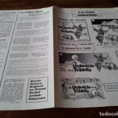 Cine: EL VIOLINISTA EN EL TEJADO - TOPOL, NORMA CRANE, NORMAN JEWISON - GUIA ORIGINAL CB FILMS AÑO 1971. Lote 218914280