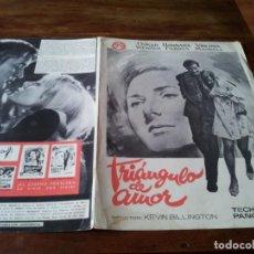 Cine: TRIANGULO DE AMOR - OSKAR WERNER, BARBARA FERRYS - GUIA ORIGINAL AS FILMS AÑO 1968 JANO. Lote 218914663