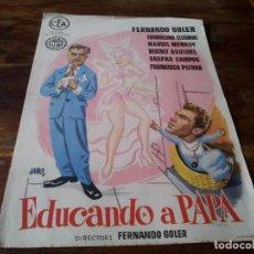 Cine: EDUCANDO A PAPA - FERNANDO SOLER, EVANGELINA ELIZONDO - GUIA ORIGINAL UNION FILMS JANO. Lote 218916653