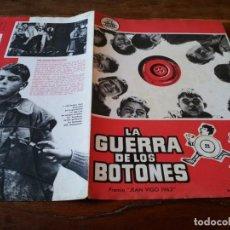 Cine: LA GUERRA DE LOS BOTONES - MICHEL GALABRU, YVES ROBERT - GUIA ORIGINAL CIFESA AÑO 1962. Lote 218959607