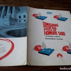 Cine: DEMASIADOS SECRETOS PARA UN HOMBRE SOLO - JAMES COBURN - GUIA ORIGINAL MERCURIO AÑO 1968. Lote 219018401