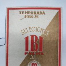 Cine: CATALOGO DE CINE IBI FILMS TEMPORADA 1934-1935. Lote 219507843