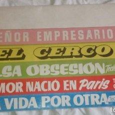 Cine: GUIA DE CINE PARA EMPRESARIOS AÑOS 50 MUNDIAL FILMS, EL CERCO, UNA VIDA POR OTRA, FALSA OBSESION.... Lote 219516720
