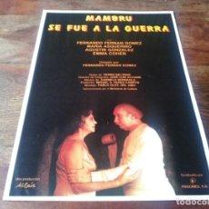 Cinéma: MAMBRU SE FUE A LA GUERRA - FERNANDO FERNÁN GÓMEZ, MARÍA ASQUERINO - GUIA ORIGINAL PROCINES AÑO 1986. Lote 219524548