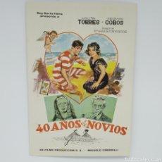 Cine: GUÍA DE LA PELÍCULA, 40 AÑOS DE NOVIOS, LOLITA TORRES, GERMÁN COBOS. Lote 219637811