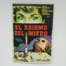 Cine: GUÍA DE LA PELÍCULA, EL ABISMO DEL MIEDO, DAVID KNIGHT, MOIRA REDMONT, JENNIE LINDEN. Lote 219637967