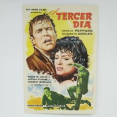 Cine: GUÍA DE LA PELÍCULA, EL TERCER DÍA, GEORGE PEPPARD, ELISABETH ASHLEY. Lote 219639637