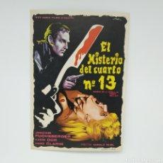 Cine: GUÍA DE LA PELÍCULA, EL MISTERIO DEL CUARTO Nº 13 (ZIMMER 13) KARIN DOR. Lote 219639845