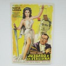 Cine: GUÍA DE LA PELÍCULA, JUZGADO A LA ITALIANA, SOFIA LOREN, WALTER CHIARI. Lote 219640205