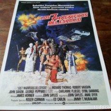 Cinema: LOS 7 MAGNIFICOS DEL ESPACIO - JOHN SAXON, ROBERT VAUGHN - GUIA ORIGINAL WARNER AÑO 1980. Lote 219730203