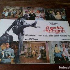 Cine: EL MÁS FELIZ MILLONARIO - FRED MACMURRAY, GREER GARSON - GUIA ORIGINAL FILMAYER AÑO 1967 DISNEY. Lote 219738493