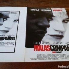 Cine: MALAS COMPAÑÍAS - ELLEN BARKIN, LAURENCE FISHBURNE, FRANK LANGELLA - GUIA ORIGINAL LAUREN AÑO 1995. Lote 220270502