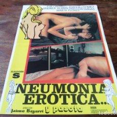 Cine: NEUMONÍA ERÓTICA Y PASOTA - EVA LIBERTEN, ANDREA ALBANI, JOAQUIN GOMEZ - GUIA ORIGINAL RODA AÑO 1981. Lote 220473658
