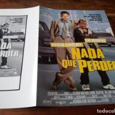Cine: NADA QUE PERDER - TIM ROBBINS, MARTIN LAWRENCE - GUIA ORIGINAL BUENAVISTA AÑO 1997. Lote 220506017