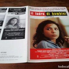 Cine: NIÑOS ROBADOS - ENRICO LO VERSO, VALENTINA SCALICI, GIANNI AMELIO - GUIA ORIGINAL U.I.P AÑO 1992. Lote 220506683