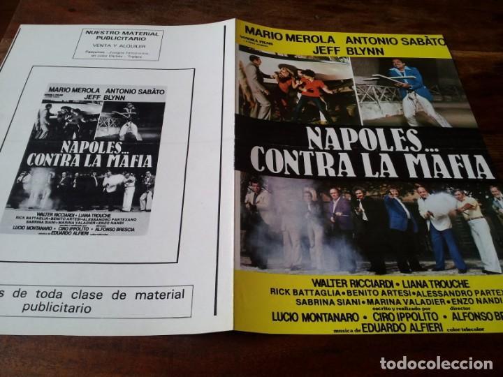 NAPOLES CONTRA LA MAFIA - MARIO MEROLA, ANTONIO SABATO, JEFF BLYNN - GUIA ORIGINAL SONORA AÑO 1979 (Cine - Guías Publicitarias de Películas )