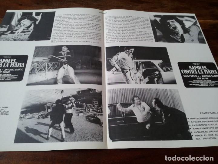 Cine: napoles contra la mafia - mario merola, antonio sabato, jeff blynn - guia original sonora año 1979 - Foto 2 - 220521023