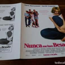 Cine: NUNCA ME HAN BESADO - DREW BARRYMORE, DAVID ARQUETTE, MICHAEL VARTAN - GUIA ORIGINAL FOX AÑO 1999. Lote 220589105