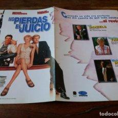 Cine: NO PIERDAS EL JUICIO - JEFF DANIELS,MICHAEL RICHARDS, CHARLIZE THERON - GUIA ORIGINAL AURUM AÑO 1997. Lote 220594297