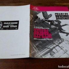 Cine: NEVADA EXPRESS - CHARLES BRONSON, BEN JOHNSON, ED LAUTER - GUIA ORIGINAL CB FILMS AÑO 1976. Lote 220604318