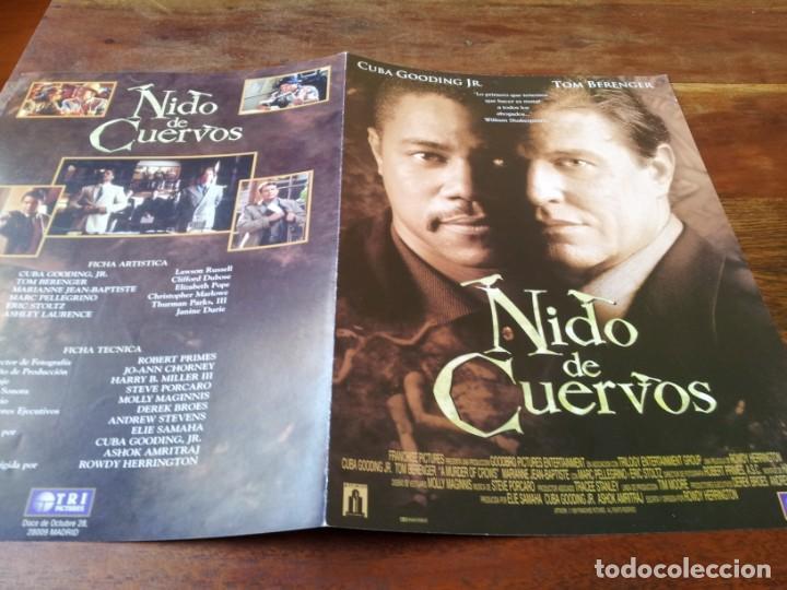 NIDO DE CUERVOS - CUBA GOODING JR., TOM BERENGER - GUIA ORIGINAL TRIPICTURES AÑO 1999 (Cine - Guías Publicitarias de Películas )